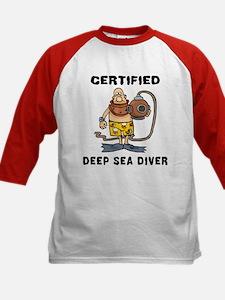 Deep Sea Diver Kids Baseball Jersey