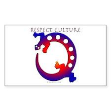 Respect Culture - Native Lizard Sticker (Rectangul