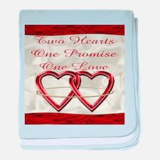 White Satin Wedding Set baby blanket