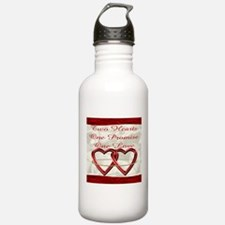 White Satin Wedding Set Water Bottle