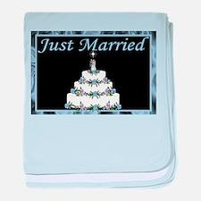 Wedding Cake Invitation Set baby blanket