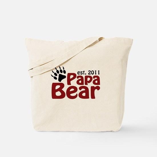 Papa Bear Est 2011 Tote Bag