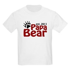 Papa Bear Est 2011 T-Shirt