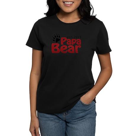 Papa Bear Est 2011 Women's Dark T-Shirt