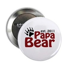 "Papa Bear Est 2011 2.25"" Button"