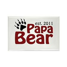 Papa Bear Est 2011 Rectangle Magnet