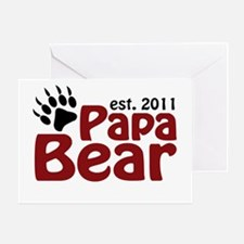 Papa Bear Est 2011 Greeting Card