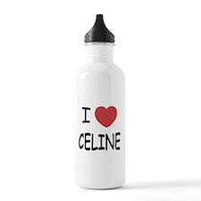 I heart Celine Sports Water Bottle
