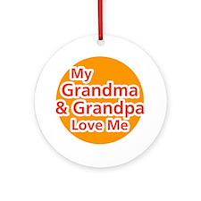 Grandma & Grandpa Love Me Ornament (Round)