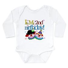 Clown 2nd Birthday Long Sleeve Infant Bodysuit