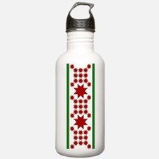 Star Quilt Pattern Water Bottle
