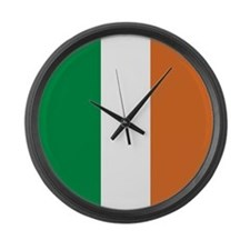 Ireland Irish Flag Large Wall Clock