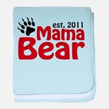 Mama Bear Est 2011 baby blanket