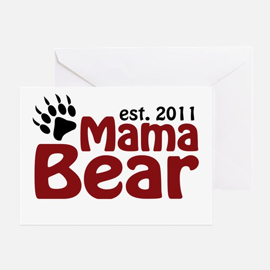 Mama Bear Est 2011 Greeting Card
