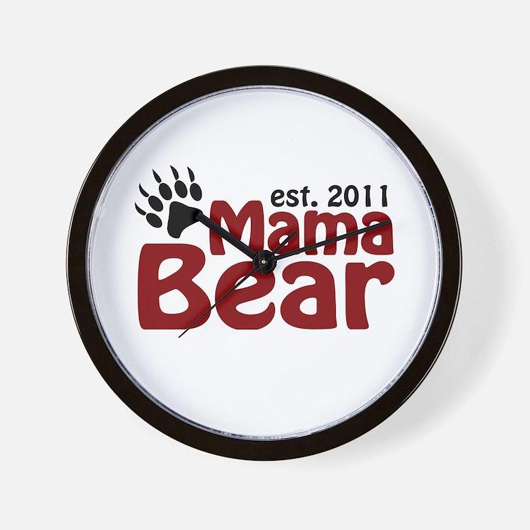 Mama Bear Est 2011 Wall Clock