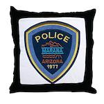 Marana Arizona Police Throw Pillow