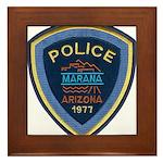 Marana Arizona Police Framed Tile