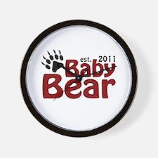 Baby Bear Est 2011 Wall Clock