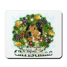 Merry Christmas Collie Mousepad
