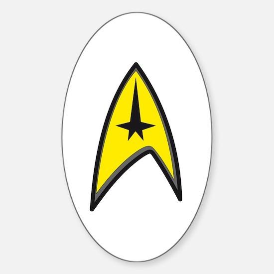 Original Star Trek Sticker (Oval)
