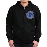 Massachusetts Free Masons Zip Hoodie (dark)