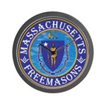 Massachusetts Free Masons Wall Clock