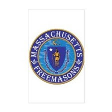 Massachusetts Free Masons Sticker (Rectangle)