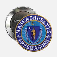 """Massachusetts Free Masons 2.25"""" Button"""