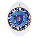 Massachusetts Free Masons Ornament (Oval)