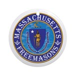 Massachusetts Free Masons Ornament (Round)