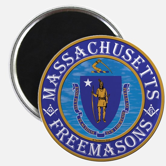 "Massachusetts Free Masons 2.25"" Magnet (10 pack)"