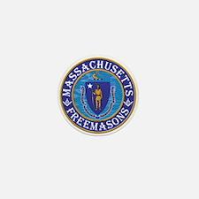Massachusetts Free Masons Mini Button