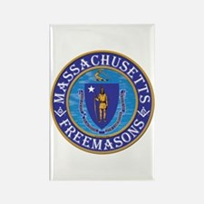 Massachusetts Free Masons Rectangle Magnet