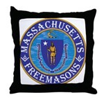 Massachusetts Free Masons Throw Pillow