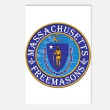 Massachusetts Free Masons Postcards (Package of 8)