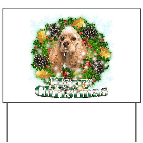 Merry Christmas Cocker Spaniel Yard Sign