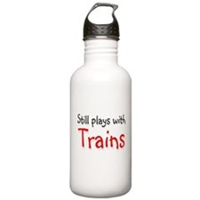 Still plays with Trains Water Bottle
