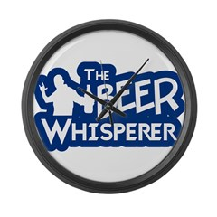 The Beer Whisperer Large Wall Clock