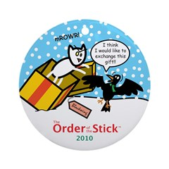 2010 Order Of The Stick Holiday Round Ornament