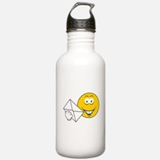 Postal Smiley Face Water Bottle