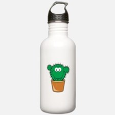 Cute Cactus Smiley Face Water Bottle