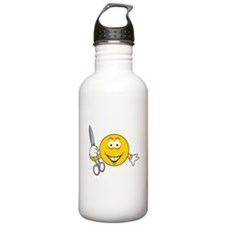 Smiley Face With Scissors Water Bottle