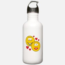 Smiley Faces in Love Water Bottle