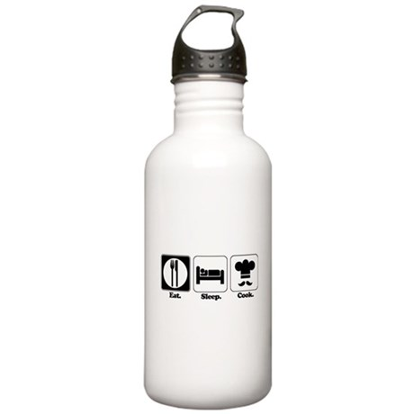 Eat. Sleep. Cook. Stainless Water Bottle 1.0L