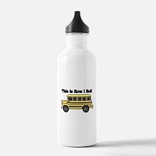 How I Roll (Short Yellow Scho Water Bottle