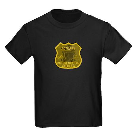 Actuary Caffeine Addiction Kids Dark T-Shirt