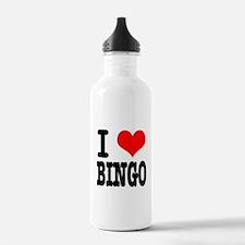I Heart (Love) Bingo Water Bottle
