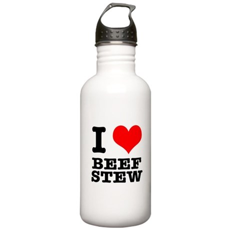 I Heart (Love) Beef Stew Stainless Water Bottle 1.
