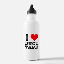I Heart (Love) Duct Tape Water Bottle