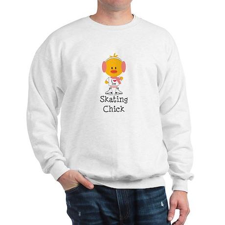 Ice Skating Chick Sweatshirt